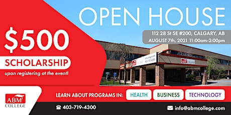 ABM College Open House -Saturday , August 7th, 2021 (11am -2:00 pm) tickets
