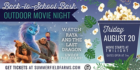 Outdoor Movie at The Farm: Raya and The Last Dragon tickets