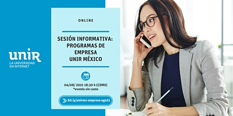 Sesión Informativa Empresa UNIR México entradas