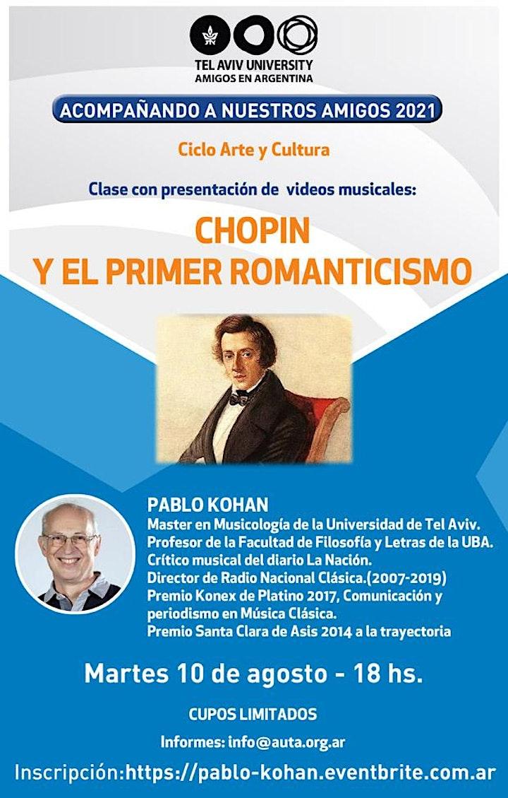 Imagen de Lic. PABLO KOHAN: CHOPIN Y EL PRIMER ROMANTICISMO