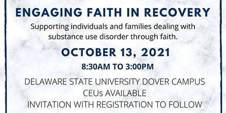 Engaging Faith in Recovery Conference tickets