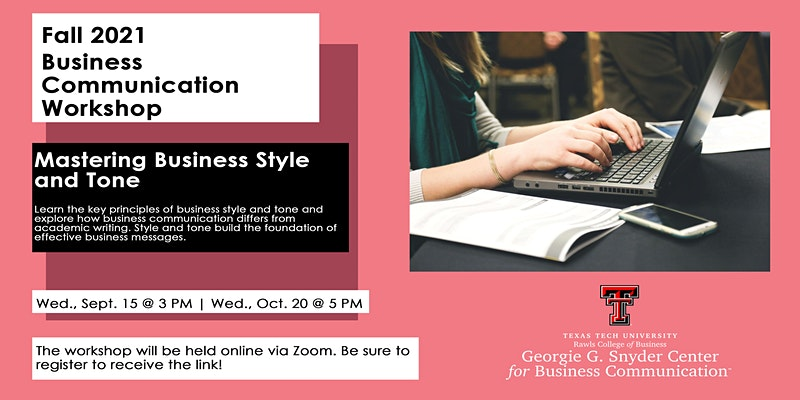 Business Communication Workshop: Mastering Business Style and Tone