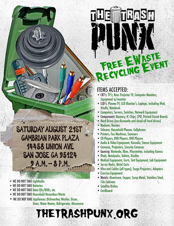 The Trash Punx - Free EWaste Recycling Event image