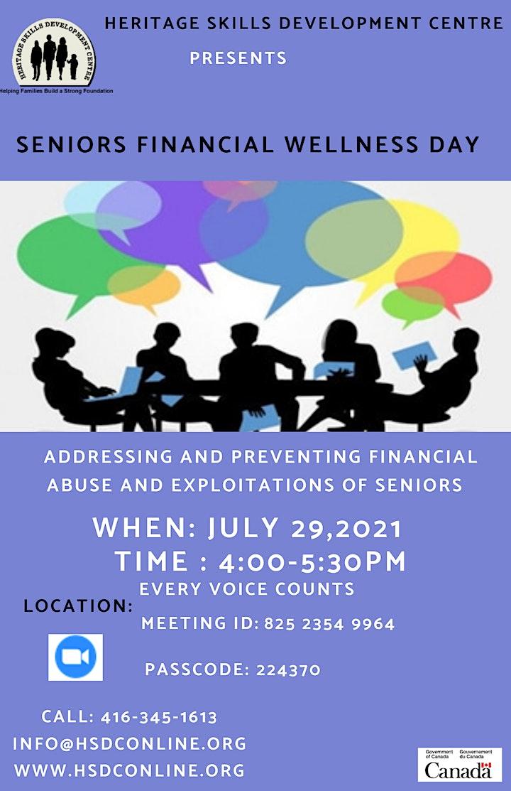 Senior's Financial Wellness Day image
