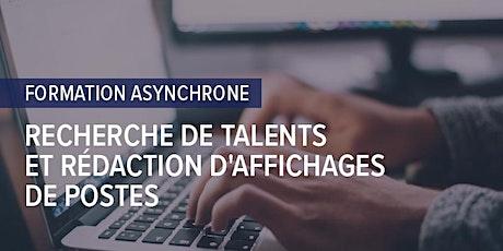 FORMATION : Recherche de talents et rédaction d'affichages de postes tickets