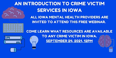 Iowa Crime Victim Resources: An introduction for Mental Health Providers tickets