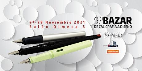 9 Bazar de Caligrafía y Diseño-2021 boletos