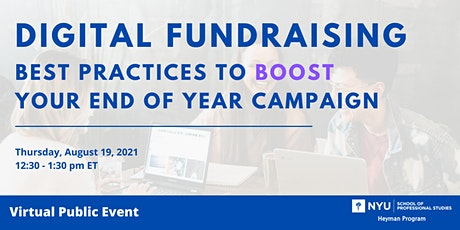 Digital Fundraising: Best Practices to Boost Your End of Year Campaign tickets