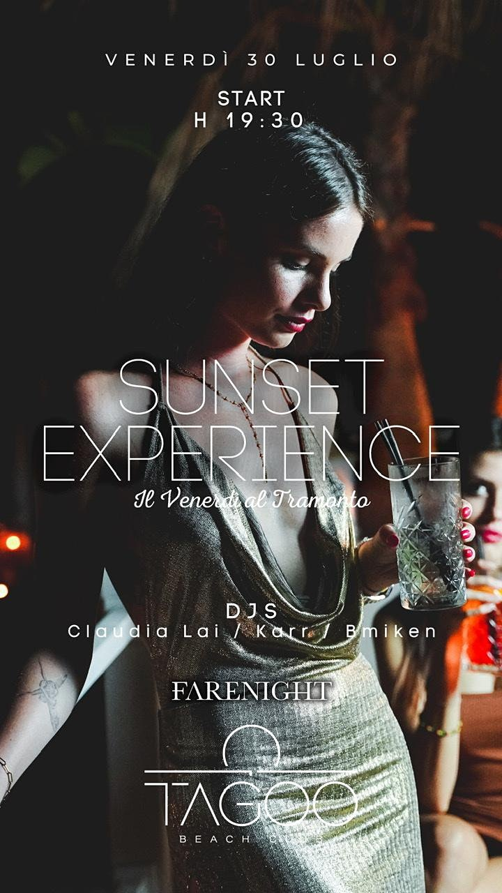 Immagine Sunset Experience @Tagoo Beach - Venerdi 30 Luglio