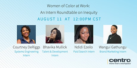 Women of Color at Work : An Intern Roundtable on Inequity tickets
