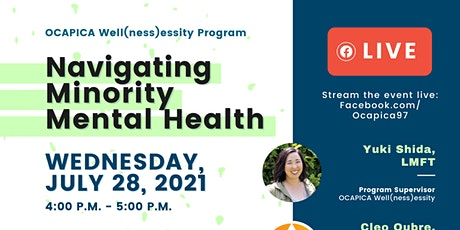Navigating Minority Mental Health Panel Discussion tickets