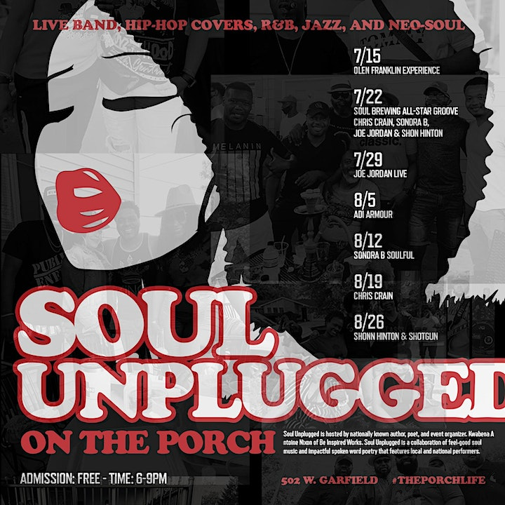 """Soul Unplugged On The Porch """" Soul Music Series image"""