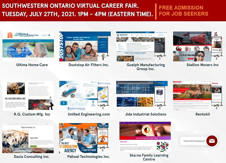 Windsor Virtual Job Fair - July 27th 2021 image