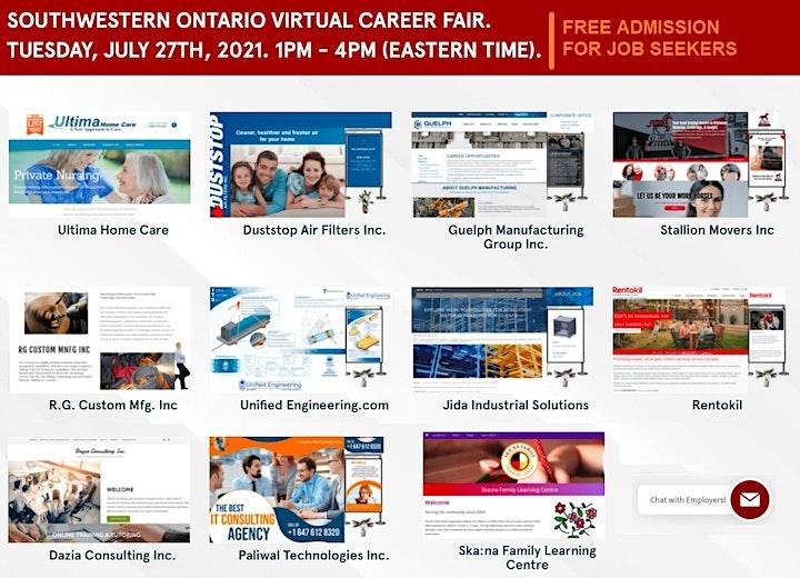 London Virtual Job Fair - July 27th 2021 image