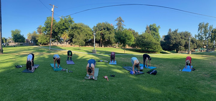 Outdoor  MOMMY AND ME Yoga at Garfield Park, South Pasadena, CA image