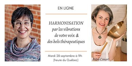 EN LIGNE Harmonisation par les vibrations de votre voix et des bols billets