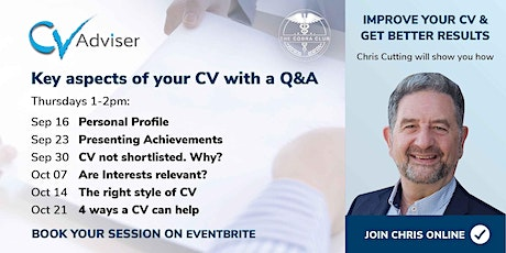 Copy of Improve Your CV - Get Better Results - CV not shortlisted. Why? tickets