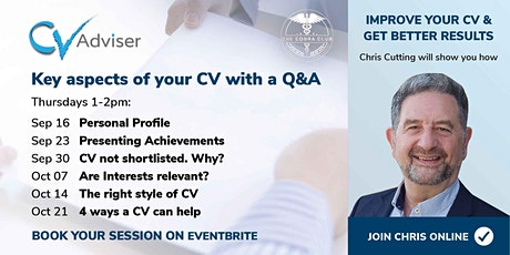 Improve Your CV - Get Better Results - Are Your Interests relevant? tickets