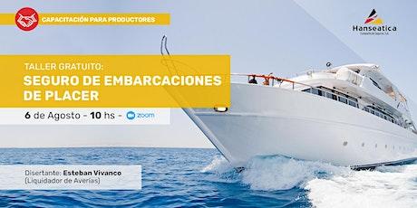 Taller gratuito: Seguro de embarcaciones de placer entradas