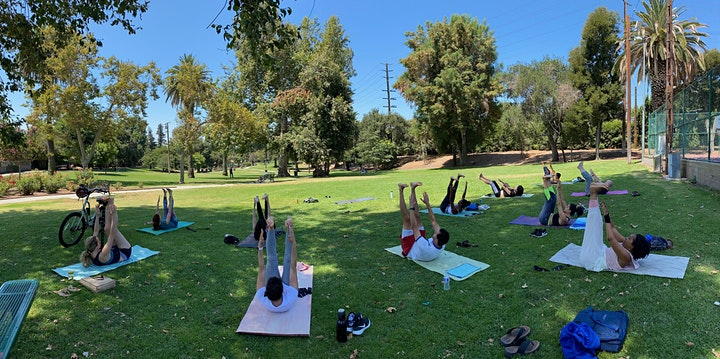 Outdoor POWER YOGA with resistance bands, Garfield Park, South Pasadena, CA image