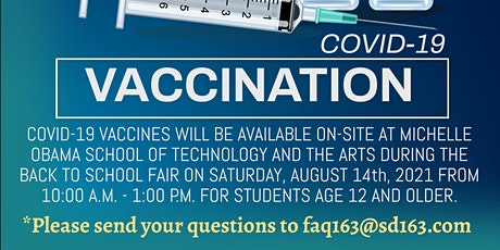 COVID-19 Vaccinations for Students 12 & Older - Back - 2- School Fair tickets