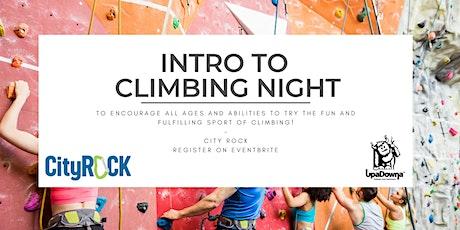 Intro to Climbing Night tickets