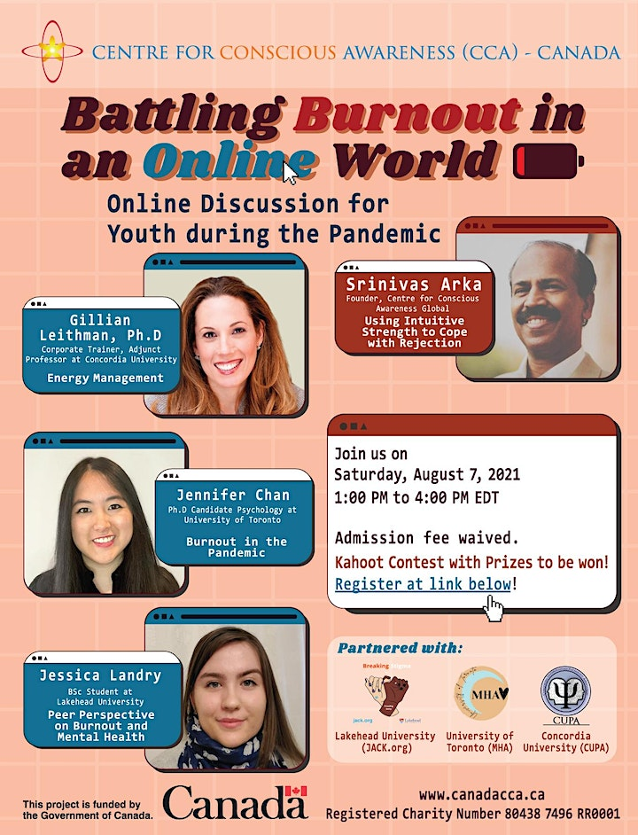 Youth Event - Battling Burnout in an Online World image