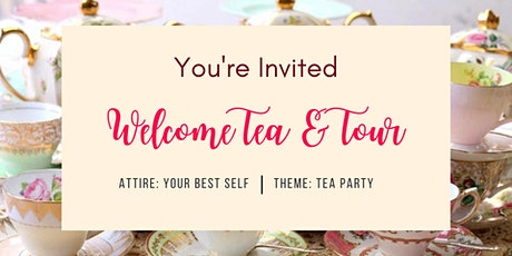Live Welcome Tea and Online Tour Networking Event tickets