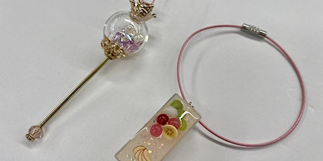 UV Resin Wand and Fruit Charm- Hilo tickets