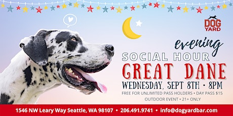 Seattle Great Dane Evening Meetup at the Dog Yard tickets