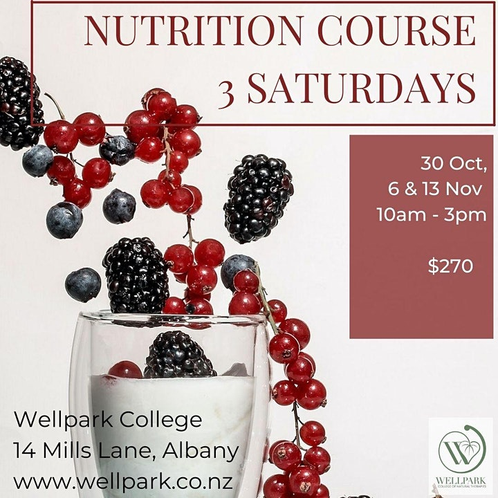 3 Day Nutrition Course image