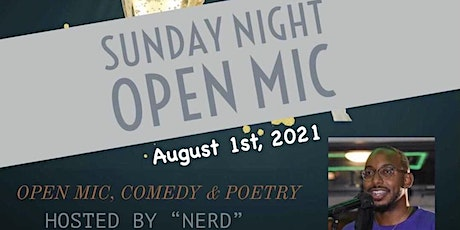 """Sunday Open Mic Happy Hour @ Illusion DC hosted by """"Nerd"""" tickets"""