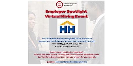 ULP Employer Partner Spotlight:  Horizon House Virtual Hiring Event tickets