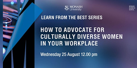 How to advocate for Culturally Diverse Women in your Workplace tickets