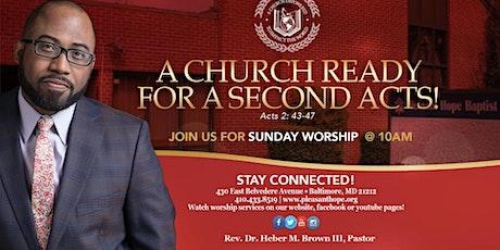 Pleasant Hope Baptist Church Worship Service - August 1, 2021 tickets
