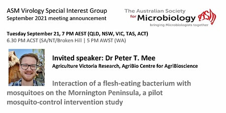 ASM Virology September  Meeting with Dr Peter Mee, Agriculture Victoria tickets
