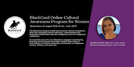 BlackCard Online Cultural Awareness for Women Masterclass tickets