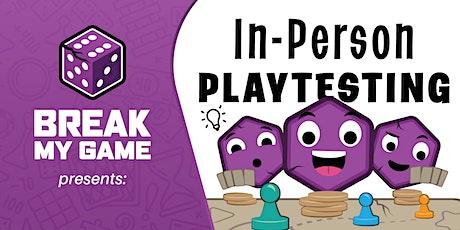 Break My Game Playtesting Pleasanton CA-King Kong Comics tickets