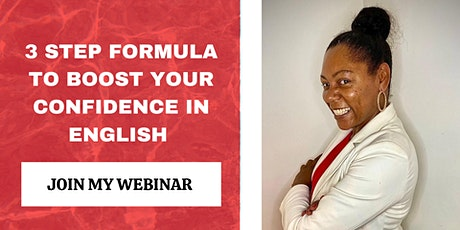3  Step Formula to Boost Your Confidence in English tickets