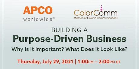 APCO Presents: Building a Purpose-Driven Business tickets