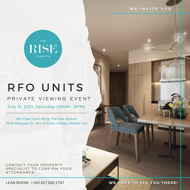 The Rise Makati - RFO Private Viewing Event image