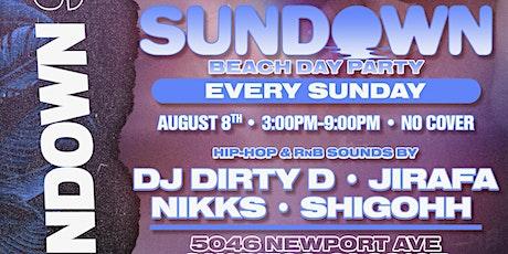 SUNDOWN - Sunday Day Party & Beach Club tickets