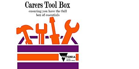 Carers Tool Box - CRCC tickets