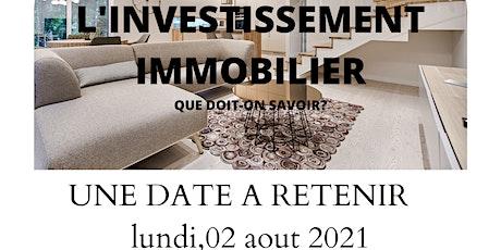 L'INVESTISSEMENT IMMOBILIER QUE DOIT ON  SAVOIR? billets