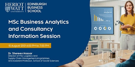 MSc Business Analytics and Consultancy Information Session tickets
