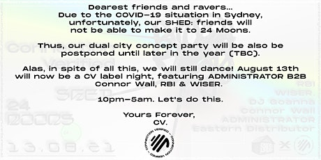 Connection Verified Label Night (CV X SHED: POSTPONED) tickets