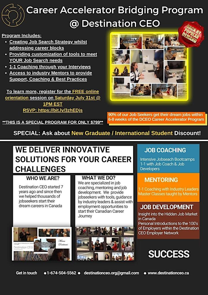 Destination CEO Fall Career Accelerator Bridging Program image