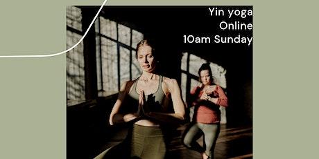 Online Yin Yoga - Sunday tickets