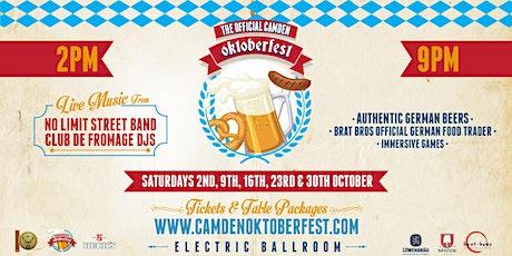 Camden Oktoberfest 2021 tickets