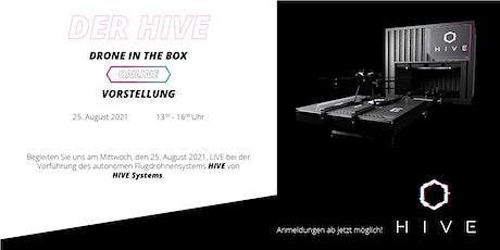 """Onlinestream - Vorführung des autonomen Flugdrohnensystems """"HIVE"""" tickets"""